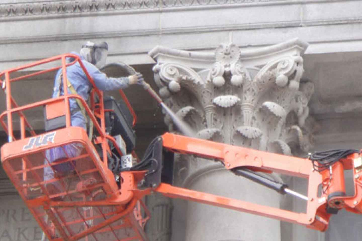 Historical Building Cleaning Using Farrow System