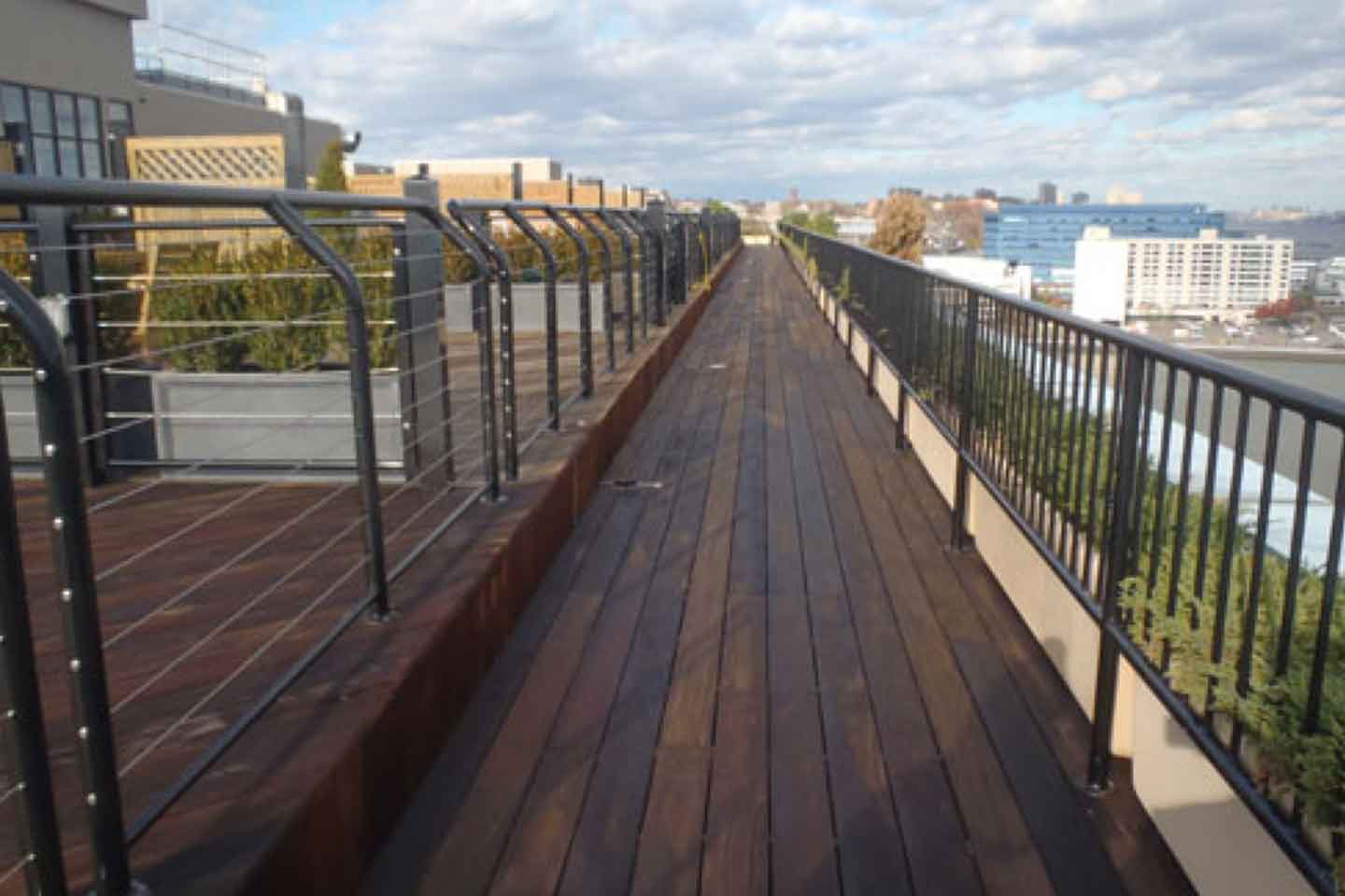 Hudson Tea Condominiums Rooftop Deck Power Washing & Staining